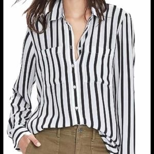 Banana Republic Mixed Stripe Shirt